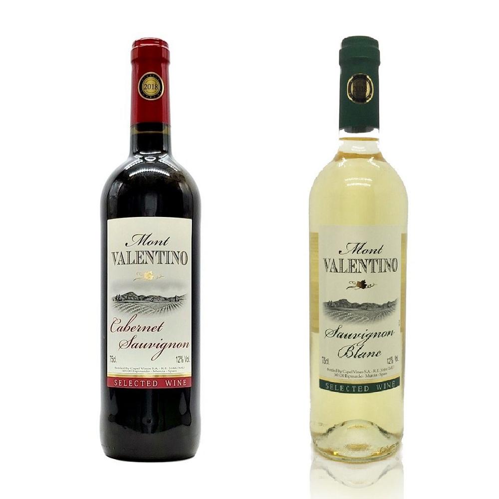 Mont Valentino - 西班牙紅酒及白酒套裝