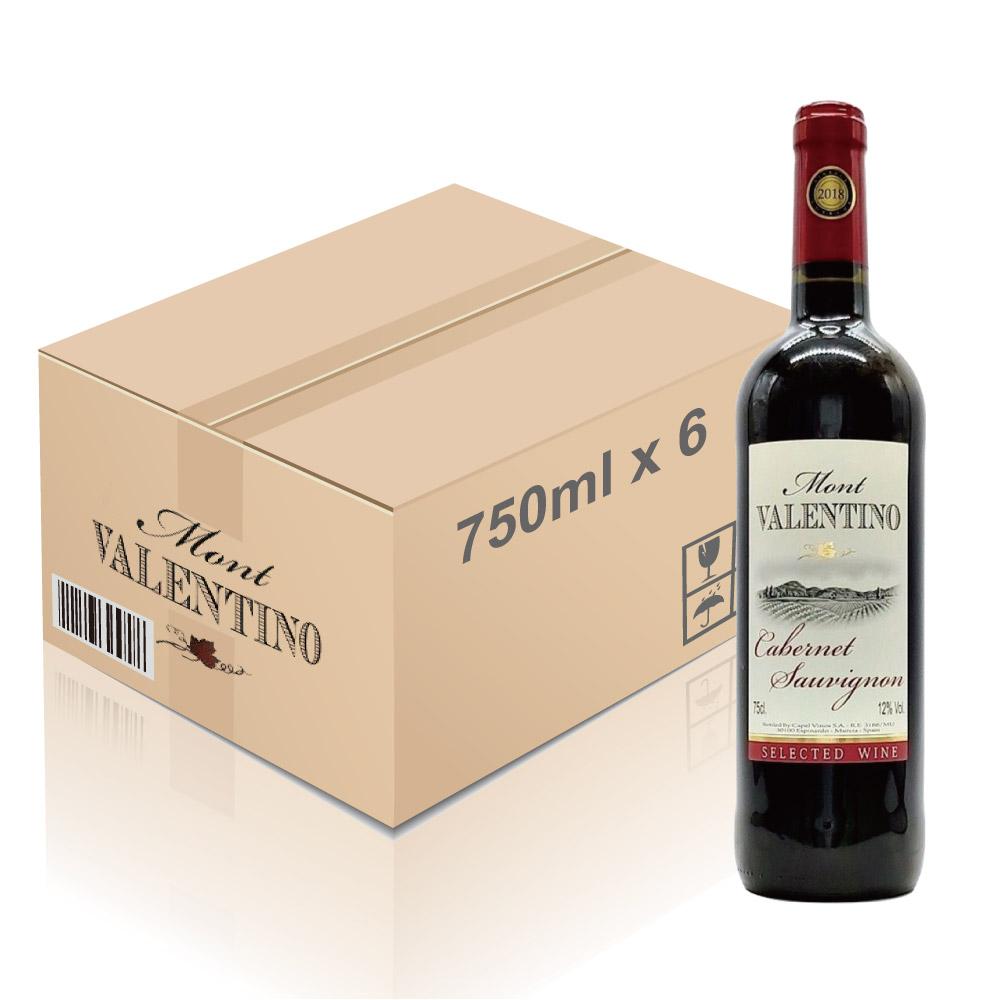 Mont Valentino - 西班牙紅酒 Cabernet Sauvignon 2018年 750ml x 6枝 (一箱)