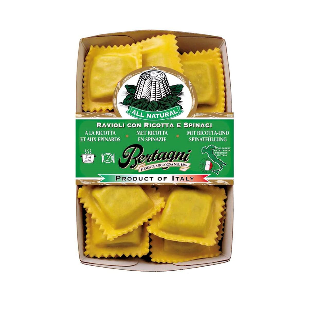 Bertagni - 芝士菠菜餡大粒四方雲吞 250g