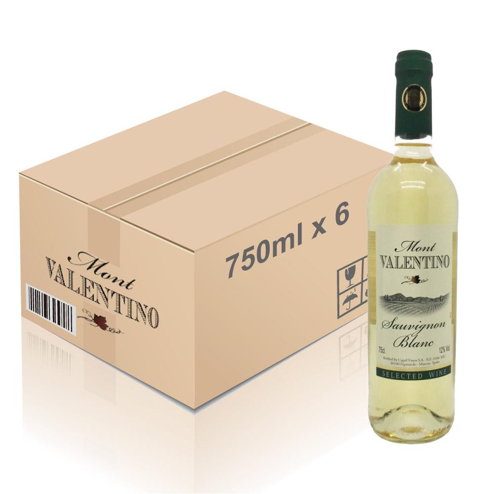 Mont Valentino - 西班牙白酒 Sauvignon Blanc 750ml x 6枝 (一箱)