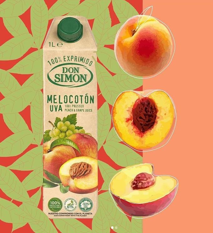 Don Simon 100%純蜜桃提子汁 1L