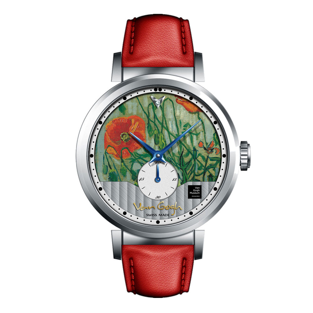 Van Gogh Swiss Watches手表 – C-SLLB-17《蝴蝶和罌粟花》
