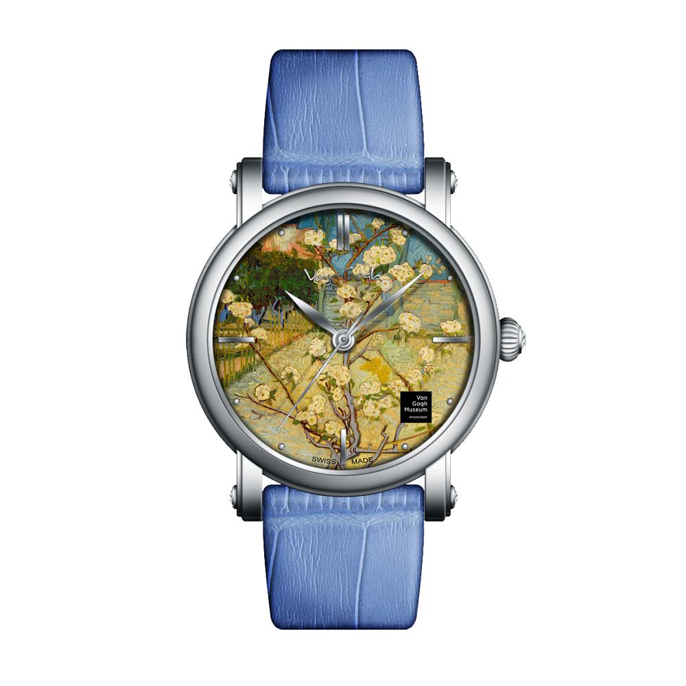 Van Gogh Swiss Watches手表 – Lady 18《盛開的小梨樹》