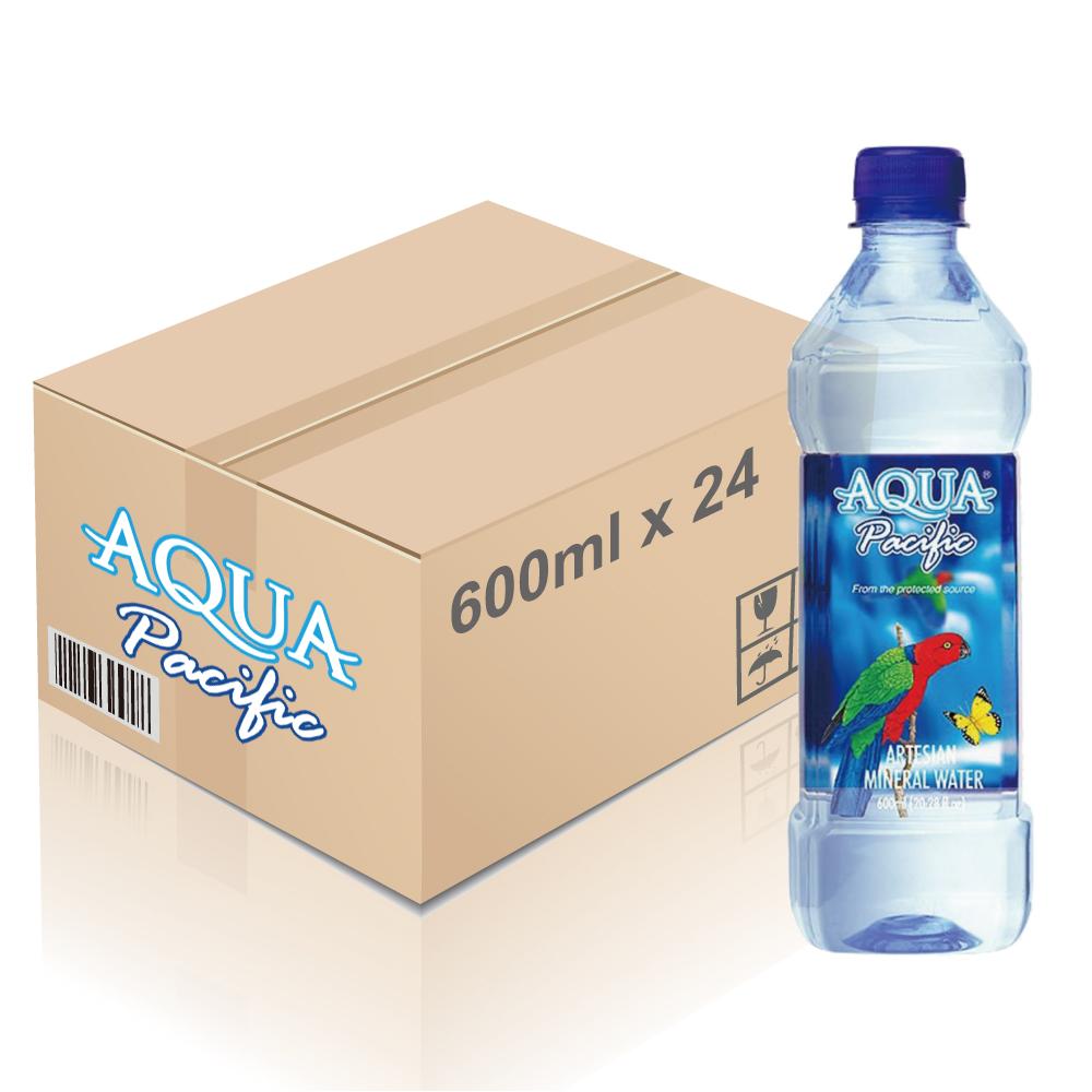 Aqua Pacific ® - 斐濟天然礦泉水 600ml x 24枝 (一箱)